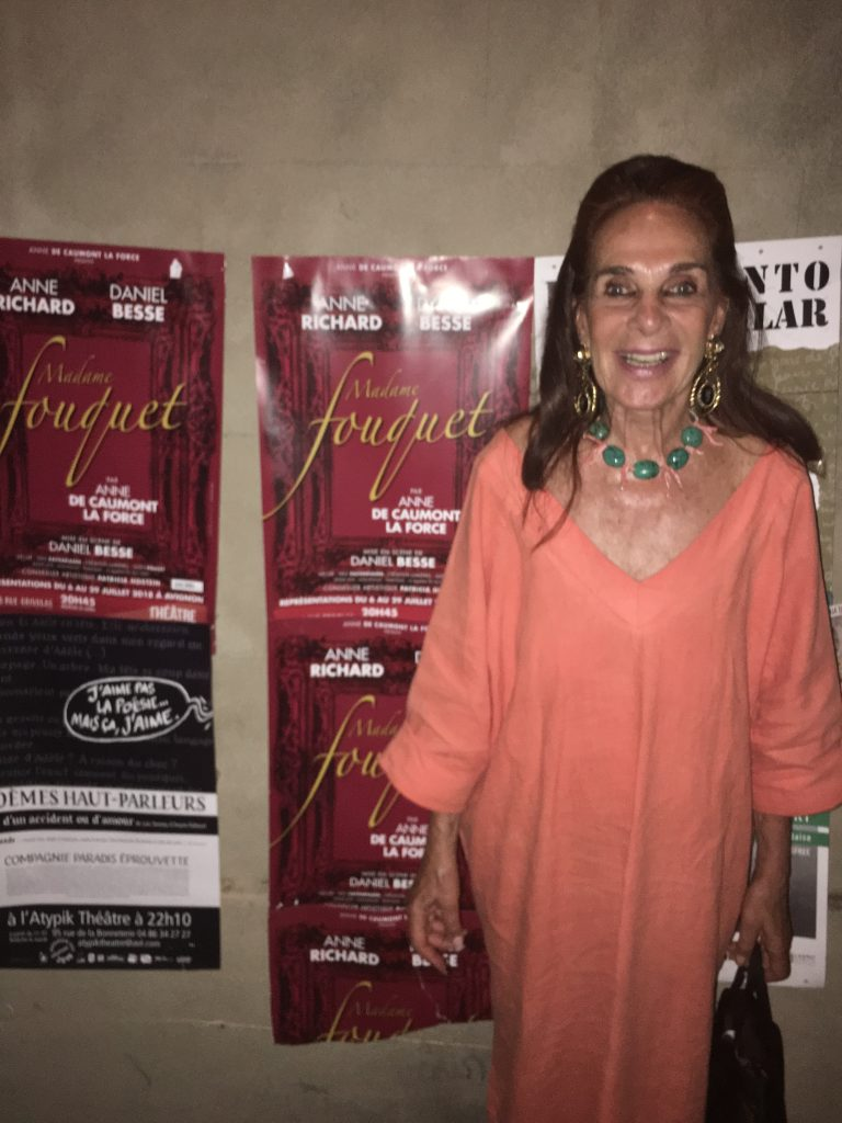 Immodeste joie d'un auteur formidablement accueilli à Avignon avec sa pièce Madame Fouquet et magnifiques Anne Richard et Daniel Besse